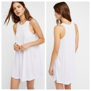 Free People LA Nights Ribbed Swing Mini Dress NWT